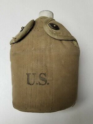 Us Gi 1918  Dated Canteen, Cup With Cover Dated 1943.