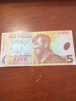 5 Dollar New Zealand  Banknote