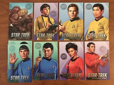 Dave and Buster's Star Trek 8 Cards Full Set With Rare Tribbles And Extra Spock