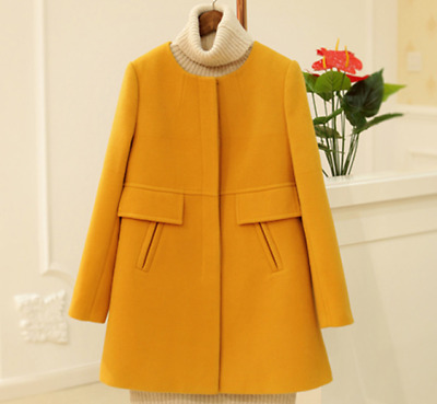 Womens Fashion Long Coat Jacket Spring Trench Slim Fit  Outwear Chic Cute