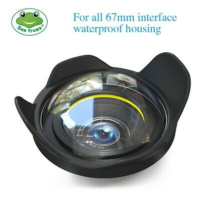 """Seafrogs 6"""" Wide Angle Wet Dome Port Lens for TG-5 A6000 A6300 Camera Housing"""