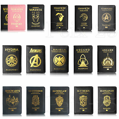 The Avenger Wakanda Hydra Hogwarts Passport Cover RFID Blocking Credit Card Case