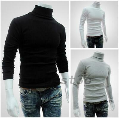 Men Basic Casual Fashion Turtleneck T-shirt Top Tee Thermal Slim Fit Pullover