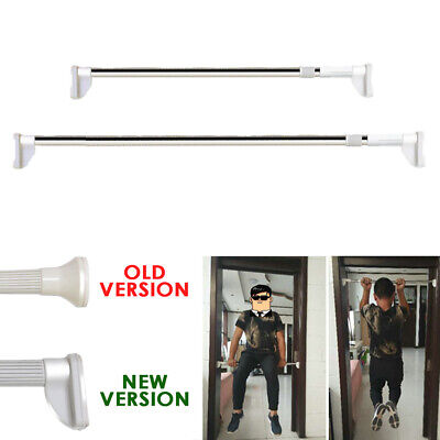 NEW VERSION FOOT Extendable Telescopic Net Curtain Rail Pole Rod Stainless Steel