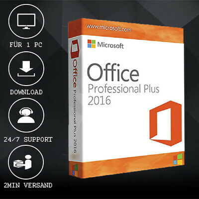 MS Office 2016 Professional Plus [Pro Plus] 32&64 Bits - ESD delivery per E-Mail