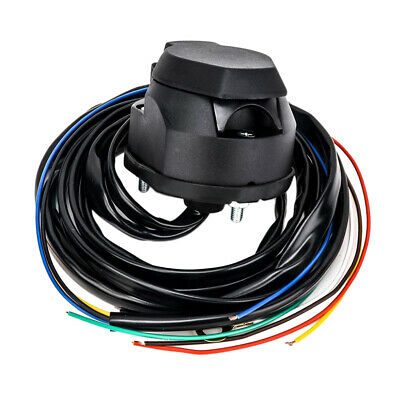 7 Pin Trailer Socket Extension Cable & 5ft Wire Car Trailer Wiring Connector