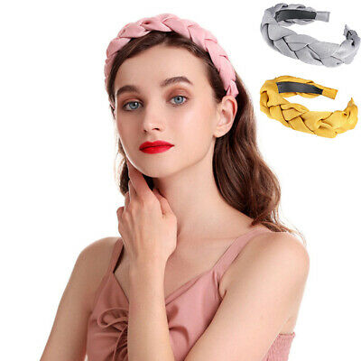 Ladies Tie Headband Hairband Twist Braided Wide Alice Band Hair Hoop Accessories