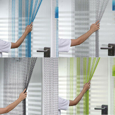 214x90cm Aluminum Door Curtain Metal Chain Fly Insect Blinds Prevent Screen UK