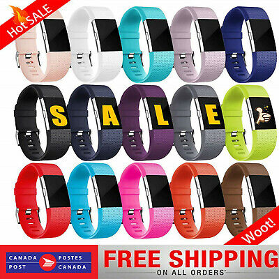 For Fitbit Charge 2 Band Replacement Sports Watch Strap Wristband Small Large SL