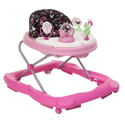 Disney Minnie Pop Walker 2 Removable Swing Open Activity Trays And Sturdy Wheels