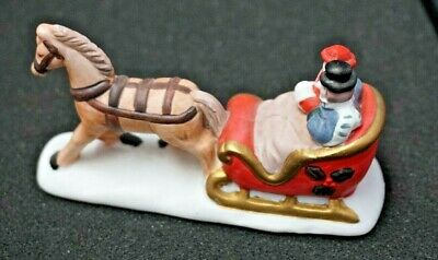 Philipino Ceramic Christmas Sleigh Figurine (#446)