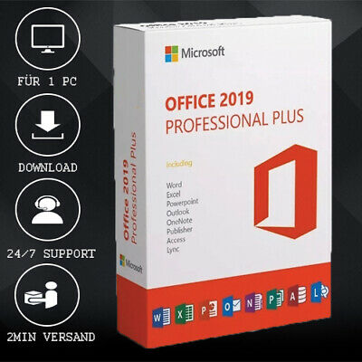 MS Office 2019 Professional Plus [Pro Plus] 32&64 Bits - ESD delivery per E-Mail