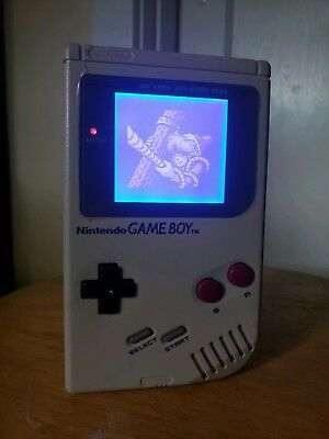 GAMEBOY DMG WITH Backlight and Bivert  6 Mods!