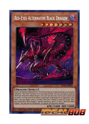 YUGIOH x 1 Red-Eyes Alternative Black Dragon - TN19-EN005 - Prismatic Secret Rar