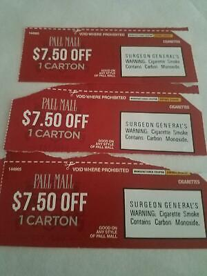photo regarding Pall Mall Printable Coupons named PALL Shopping mall CIGARETTE Coupon codes - $6.69 PicClick