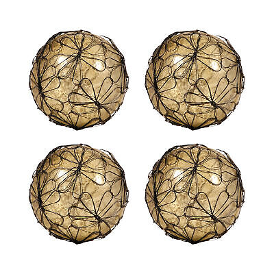 Pomeroy Spheres Ball Decor Set Of 4 In Antique Wheat Artifact Finish 015113/S4