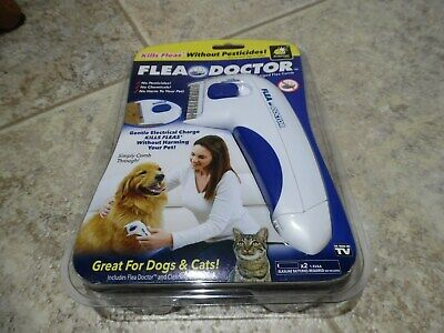 Flea Doctor Electrically Charged Flea Comb As Seen On TV Great for Dogs & Cats