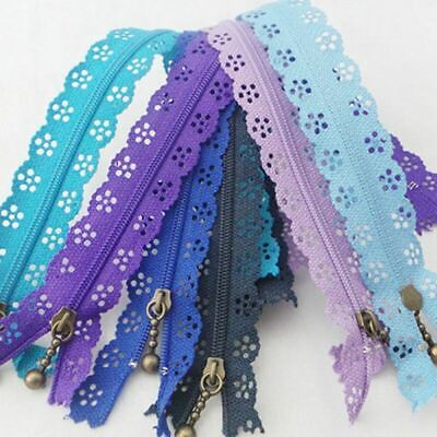 20X Lace Edge Zipper Puller Zip Tailor DIY Craft Sewing Tool Nylon Mixed Color