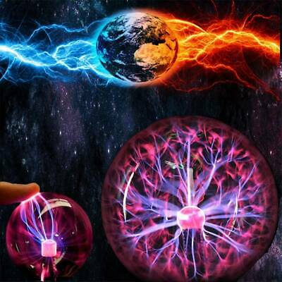 NEW Glass Plasma Ball Sphere Lamp Light Crystal Party Magic Desk Lamp Novelty DY