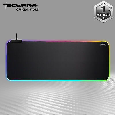 Tecware RGB Mouse Mat Pad Large Keyboard 10Modes Water-Resistant Haste XL 80x30