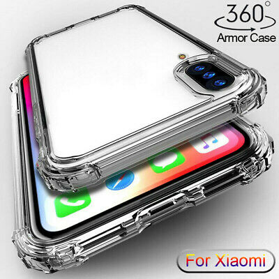 For Xiaomi Mi 9 9T Pro A2 A3 Lite Shockproof Armor Case Clear Silicone TPU Cover
