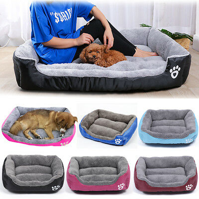 Home Pet Dog Cat Bed Puppy Cushion Warm Kennel Mat Blanket Washable Large Soft
