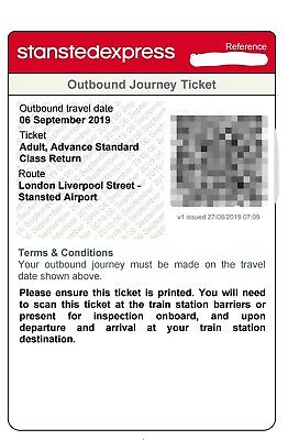 Open Return Stansted Express 6th Sept