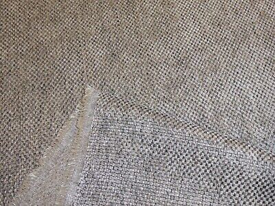 1m, 5m & 10m lengths of STEEL GREY - CHENILLE WEAVE UPHOLSTERY / CURTAIN FABRIC