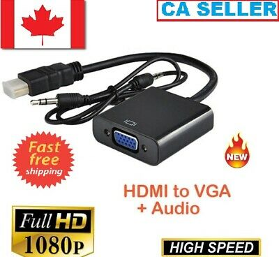 1080P HDMI Male to VGA Female Video Cable Cord Converter Adapter For PC,DVD,PS3