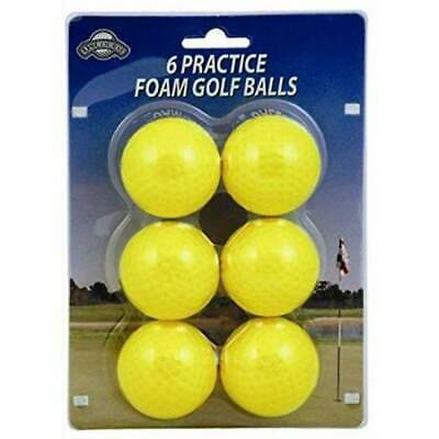 OnCourse Practice Foam Golf Balls - 6 Pack - Yellow