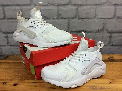 Nike Uk 11 Eu 28.5 White Huarache Run Trainers Girls Boys Childrens  Lg