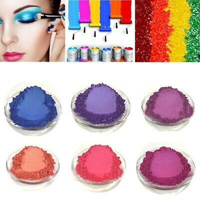 50g Mica Pigment Powder Metallic Effect Crafts Soap Eye Shadow Colorant 60-Color