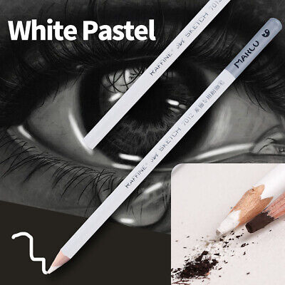 1/4pcs White Pastel Charcoal Drawing Sketch Pencil Art Artist Craft Simple CY