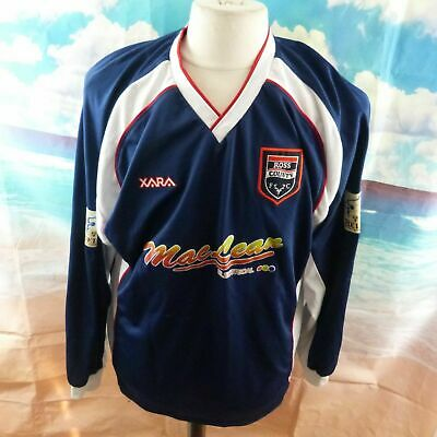 "Ross County 2004 home Football Shirt. 23"" pit-to-pit, 30"" length, XL"