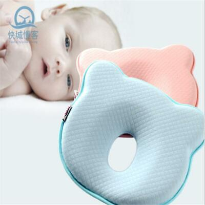 Baby Cot Pillow Newborn Infant Anti Flat Head Cushion for Crib Bed Neck DS