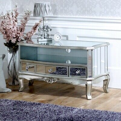 Argente Mirrored Television Cabinet - Perfect For Modern Widescreen Tv's