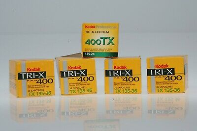5 ROLLS NOS Kodak TRI-X Pan TX 135  35mm Black & White Roll Film 1997-2005