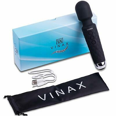 Magic Wand Vibrator Massager USB Rechargeable Cordless Multi Speed Therapeutic