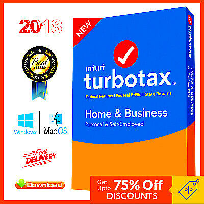 TurboTax Home and Business 2018 Federal + State 📥 Windows MacOS Fast Delivery!!