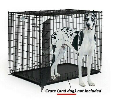 "Replacement 30""/42""/54"" Pan For Midwest Pet Crate Plastic Tray Floor Cage Kennel"