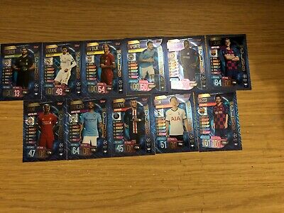 Match Attax 2019/20 Full Set Of All 11 100 Hundred Clubs 321-331 Mint