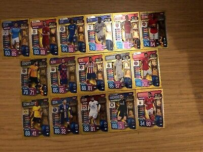 Match Attax 2019/20 Full Set Of All 16 Club Legends Cards 289-304 Mint