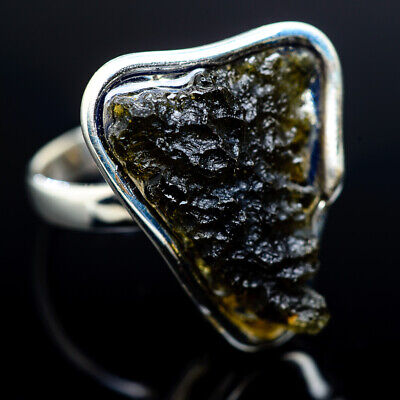 UNIQUE RING STERLING SILVER 925 HAND MADE ARTISAN JEWELRY GINKGO LEAF
