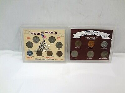 World War II Obsolete & Rare Coins 20th Century Penny & Nickel Coin Collections
