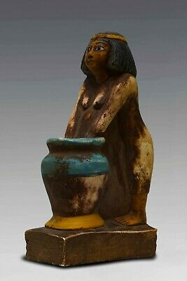 RARE EGYPTIAN EGYPT ANTIQUES Women Beer Maid STATUE PHARAOH CARVED STONE 3250 BC