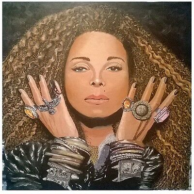 """oil painting handpainted on canvas """"A woman is wearing some jewelry""""@NO1443"""