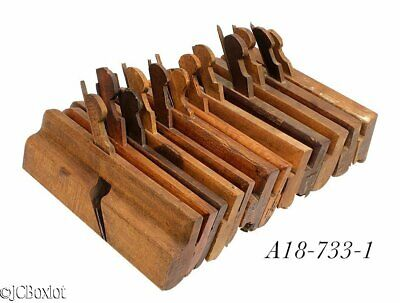 wood wooden antique MOLDING PLANE TOOLS H&R's barton others carpenter woodwork