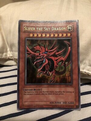 Yu-Gi-Oh! Slifer the Sky Dragon - GBI-001 - Ultra Rare! Played
