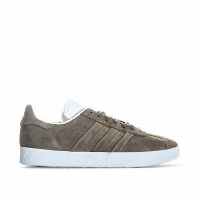 Mens adidas Originals Gazelle Stitch And Turn Trainers In Green