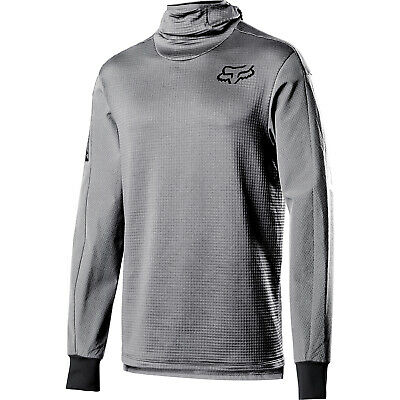 Fox Mtb Defend Thermo Hooded Mens Jersey Enduro - Steel Grey All Sizes